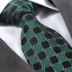 Ursinus Silk Tie // Green + Black