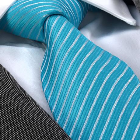 Rutilius Silk Tie // Blue + White