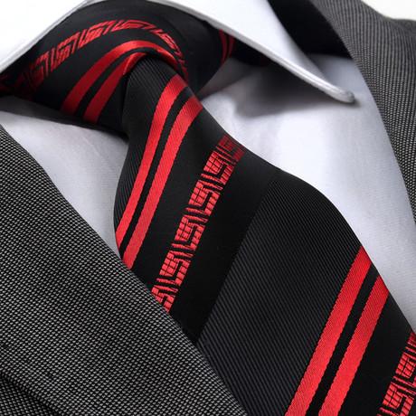 Silesius Tie // Red + Black