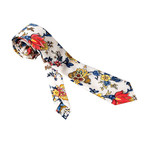 Amedeo Exclusive // Silk Tie // Red + Blue + White Floral (Red, Blue, White)