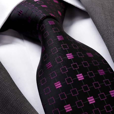 Clericus Silk Tie // Black + Purple