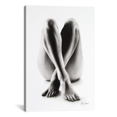 Nude Woman Charcoal Study 54