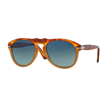 Persol // Classic Sunglasses // Light Havana + Blue Gradient