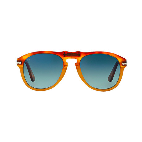 Classic Sunglasses // Light Havana + Blue Gradient