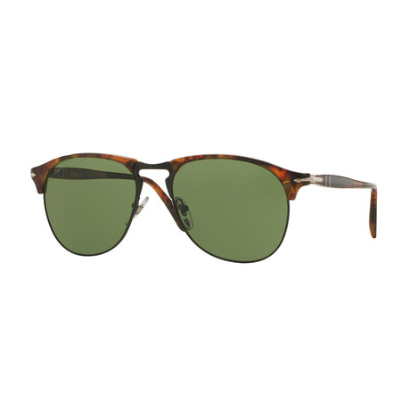 Persol // Men's Pilot Sunglasses // Havana + Green
