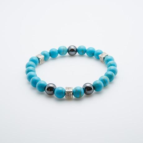 Dell Arte // Magnesite Bracelet // Aqua + Silver