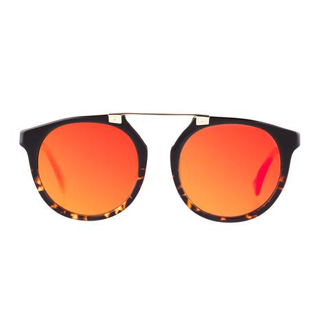 Owl Eyes II Sunglasses // Volcano // Black + Red