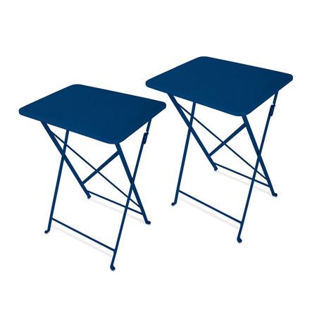 E00714179f9552a16e3f7e1de97176e6 medium  sc 1 st  Touch of Modern & Café Indoor + Outdoor // Tray Table // Set of 2 (Capri Breeze ...