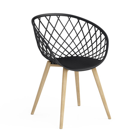Kurv Chair // Set of 2 (Black)