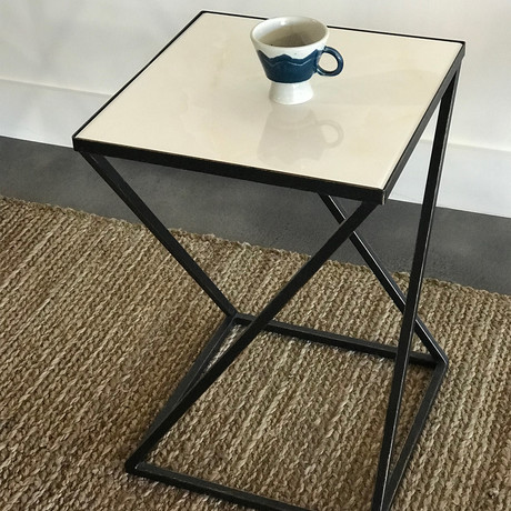 Arden Black Gold Side Table Set