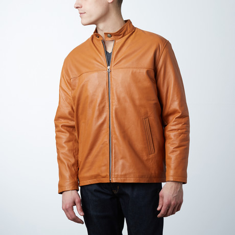 Classic Leather Jacket // Camel (L)