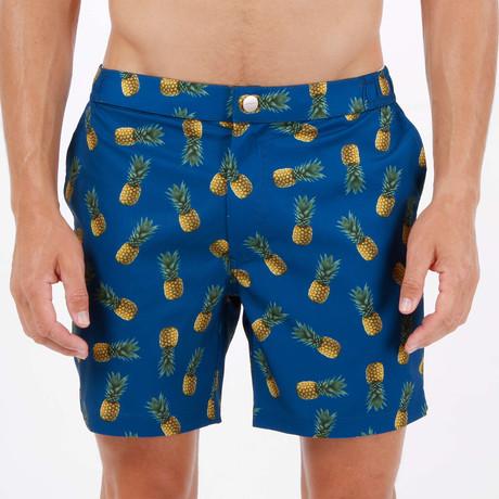 Colada Pineapple Tailor Made Swim Short // Blue