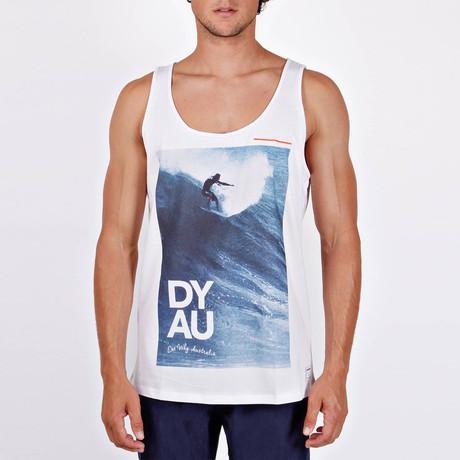Dyau Tank // White Printed (S)