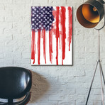 "American Flag Splatter (18""W x 26""H x 0.75""D)"