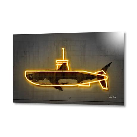 "Yellow Submarine // Aluminum (16""W x 24""H x 1.5""D)"
