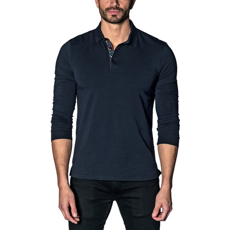 Knit Polo // Dark Navy