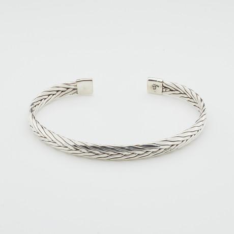 Polished Foxtail Link Bangle