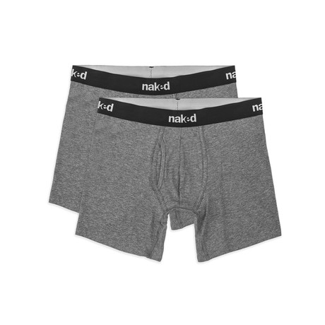 Essential Boxer Brief // 2-Pack // Dark Heather Grey