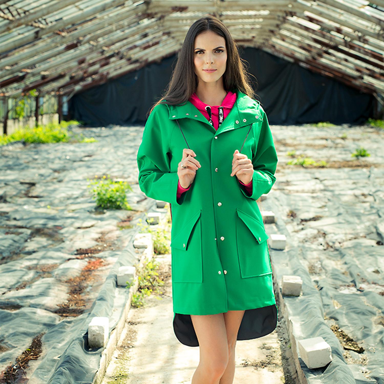 Unisex City Raincoat // Green (XXXS) - Ducktail Raincoats - Touch ...
