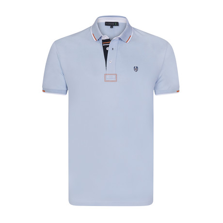 Cubic Short Sleeve Polo // Baby Blue