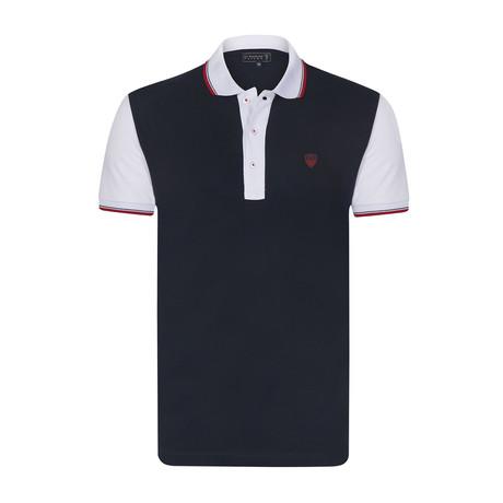 Crown Short Sleeve Polo // Navy