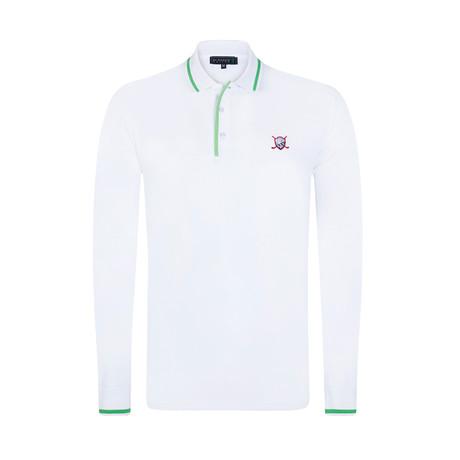 Chunk Long Sleeve Polo // White