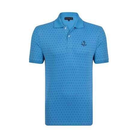 Tailor Short Sleeve Polo // Blue