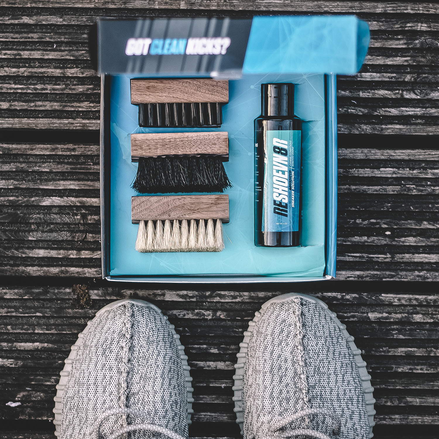 Quick Clean Kit // 3 Brushes + Shoe