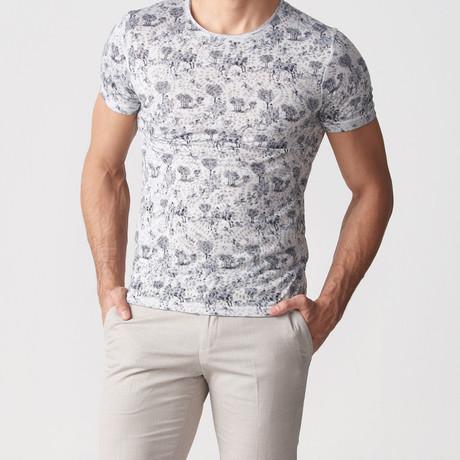 Sherman Printed T-Shirt // Grey