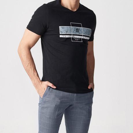 Vinn Printed T-Shirt // Black