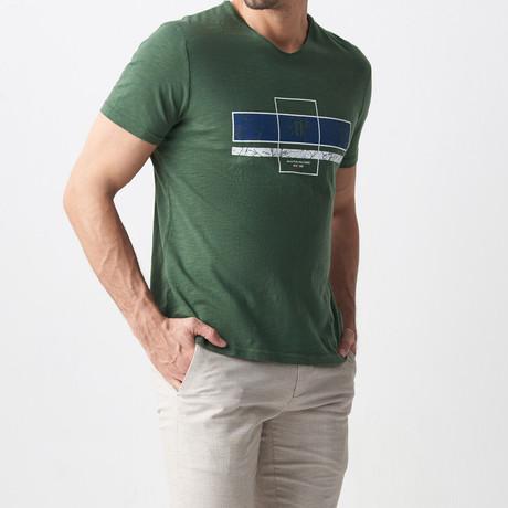 Vinn Printed T-Shirt // Khaki