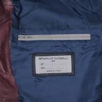 Ethan Leather Jacket // Maroon (XS)