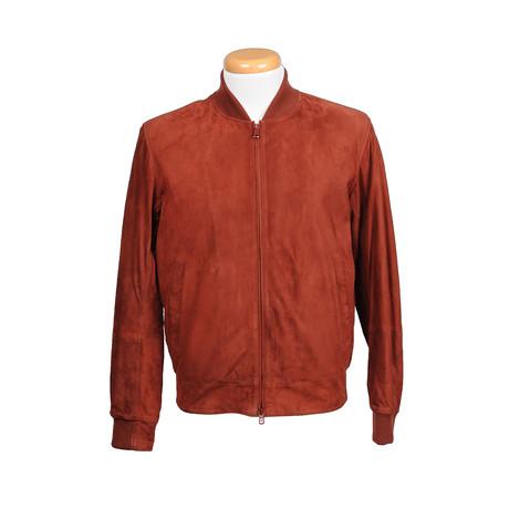 Michael Leather Jacket // Burnt Orange