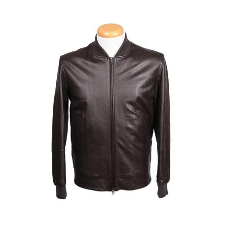 Elijah Leather Jacket // Brown