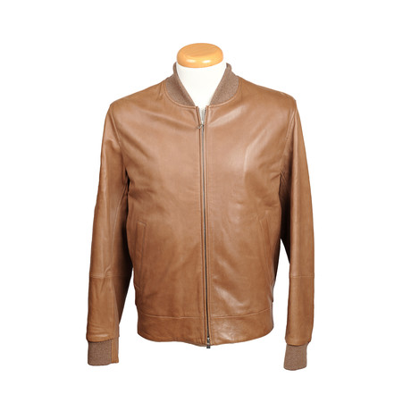 Wyatt Leather Jacket // Tan