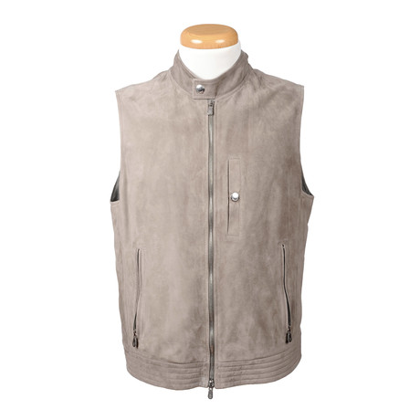 Lucas Leather Vest // Beige (XS)