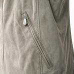 Jackson Leather Vest // Gray (M)