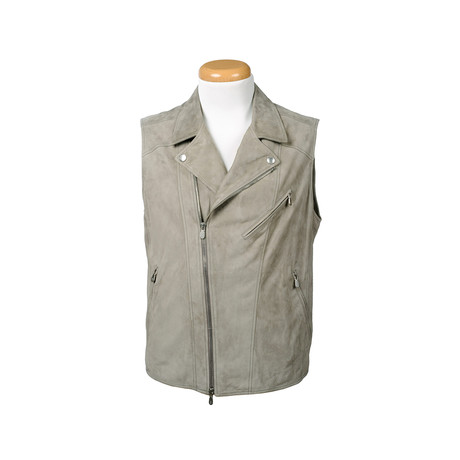 Jackson Leather Vest // Gray (XS)