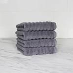 Zero Twist Wash Towel // 4 Piece Set (Anthracite Gray)