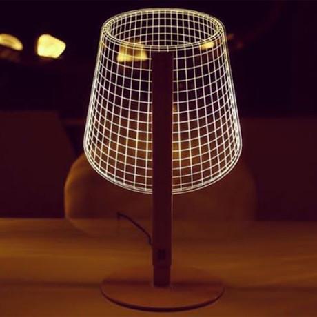 3D Lamp // Classic Metal