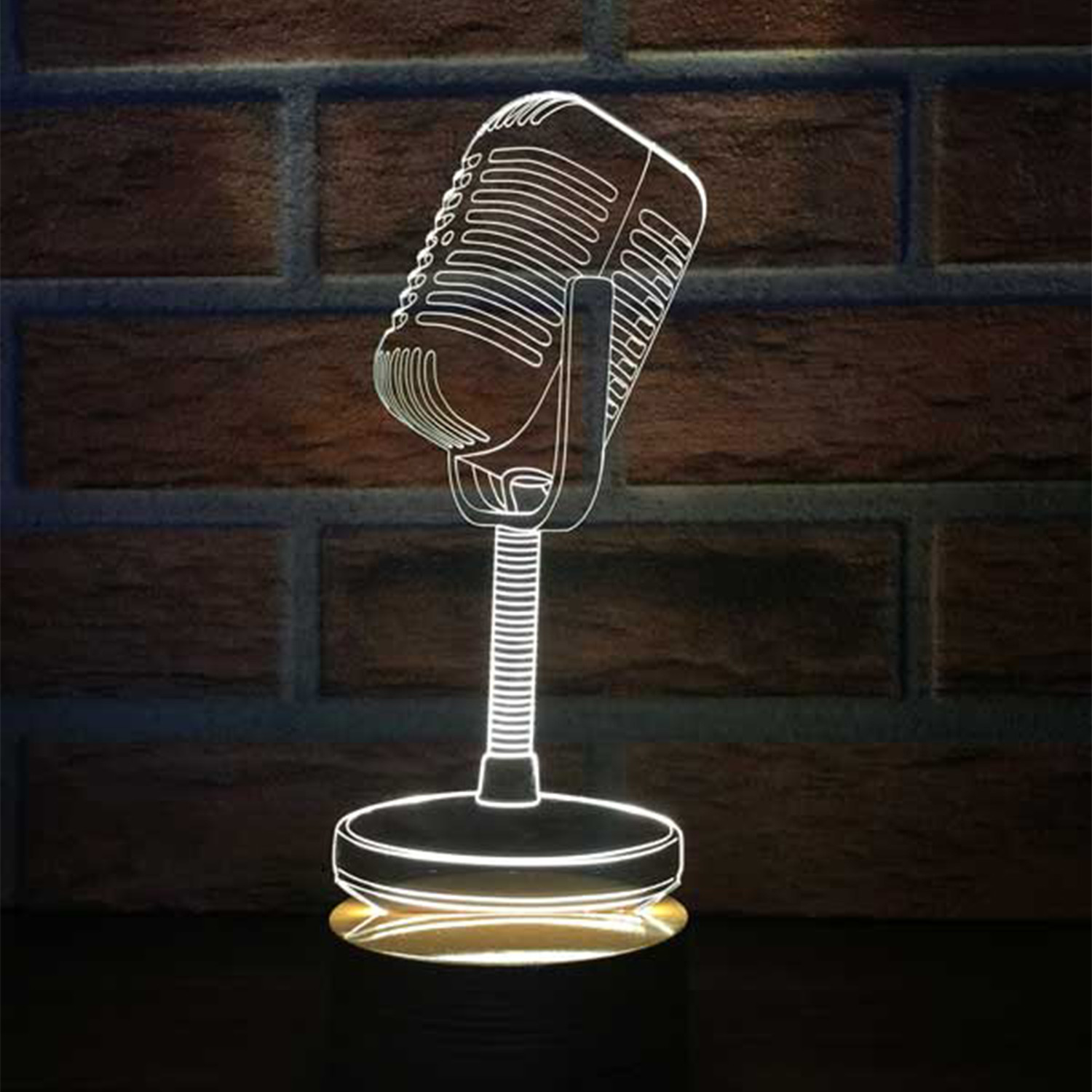 3D Lamp // Microphone Wood - BY-LAMP - Touch of Modern