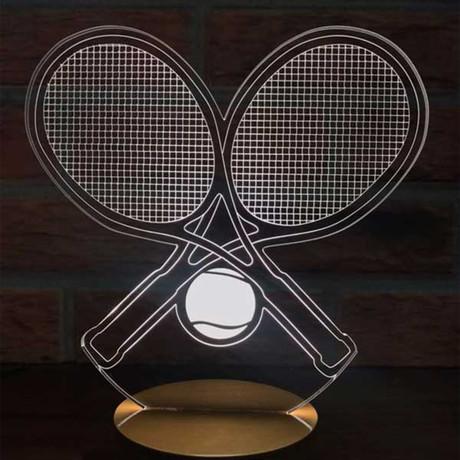 3D Lamp // Tennis Wood