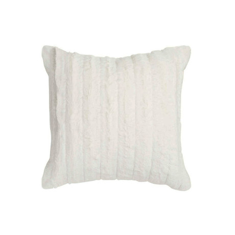 "Chinchilla Stripe Cuddle Fur Pillow // Pearl (14""L x 20""W)"