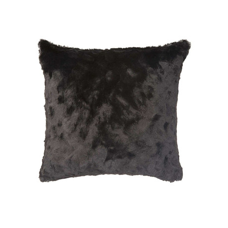 "Contempo Cuddle Fur Pillow // Black (14""L x 20""W)"