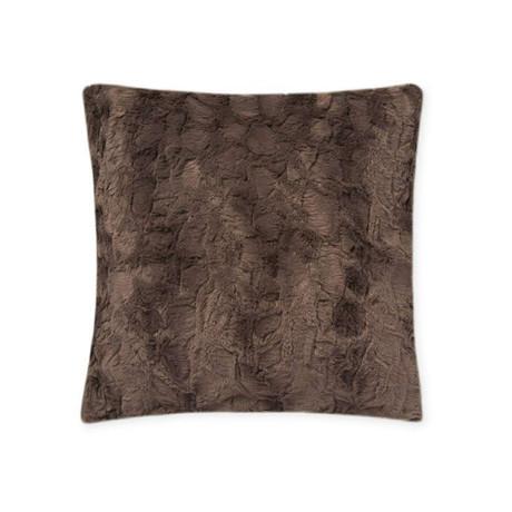 "Contempo Cuddle Fur Pillow // Charcoal (14""L x 20""W)"