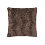 "Contempo Cuddle Fur Pillow // Charcoal (14""L x 20""W)"