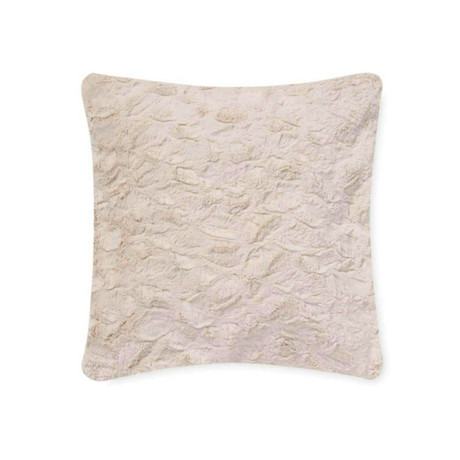 "Contempo Cuddle Fur Pillow // Pearl (14""L x 20""W)"