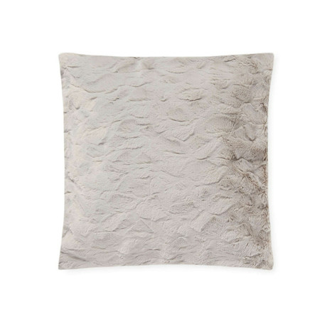 "Contempo Cuddle Fur Pillow // Silver (14""L x 20""W)"