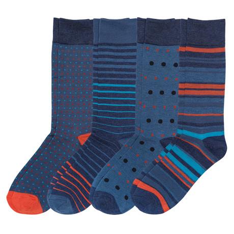 Show Your Orange Stripes Socks // Pack of 4