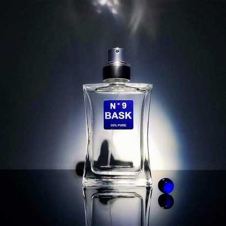 No. 9 Bask // Masterpiece of Seduction // 1.75 oz. (Blue label: Men attracting women)